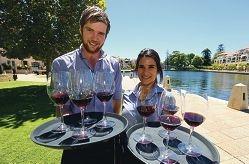 Waiters Corey Dodgson and Elana Christou.