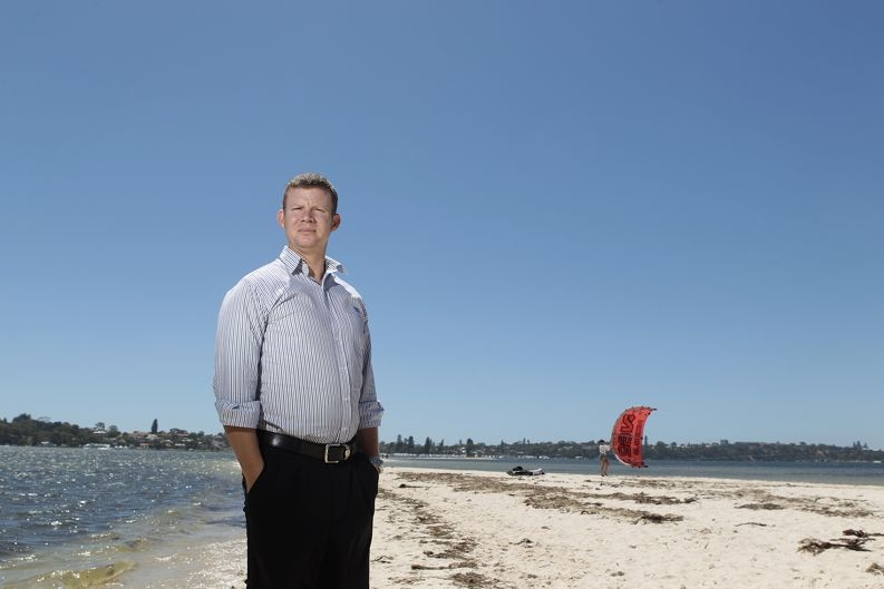 Swan River Trust acting riverpark managerStephen Lloyd. Pictures: Martin Kennealey www.communitypix.com.au d413537