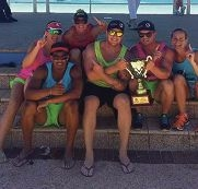 Winners Amy Francis, Jared Bezuidenhout, Karli Shemeld, Chad Francis, Brendon Knowles and Samantha Whitfield.