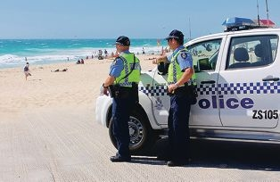 Scarborough police have been patrolling the beachfront this summer as part of operation Salmon. Picture: Lauren Pilat