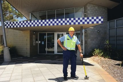 Officer-in-charge Senior Sergeant David Hooper outside Morley police station, which is being closed for renovations. Picture: Marcus Whisson www.communitypix.com.au d413270