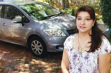 Azita Babakan, from Iran, who received her licence through the Driver Education Program.