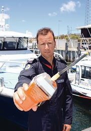Snr Const Brad Bell says always have an EPIRB beacon aboard.
