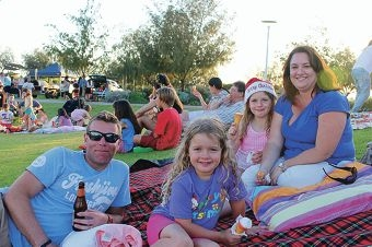 Families flock to foreshore for film