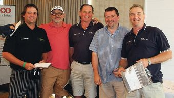 Golfers in the swing for charity