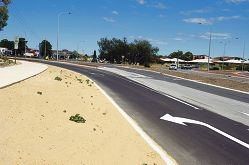 New slip lanes at Marmion Avenue and Hester Avenue.