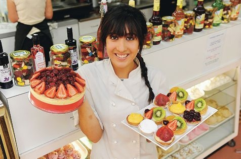 Martineaus Patisserie's Vanessa Martino with some of her creations. Picture: Marcus Whisson www.communitypix.com.au d412925