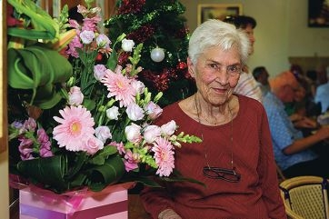 Pauline DelaHoyde celebrated her 90th birthday with the Easy Beat Walkers