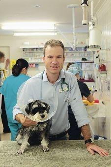 Dr Ewen Blaikie and Diesel.