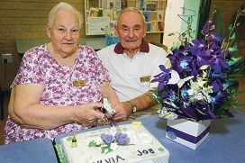 Sylvia and Joe Brennan recently celebrated 70 years of marriage
