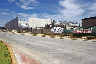The new Bunnings store in Clarkson is expected to be completed this year.