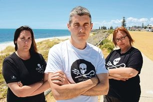 Sea Shepherd's Megan Louth, Jeff Hansen and Lisa Rossi are opposed to drum baiting for great white sharks.