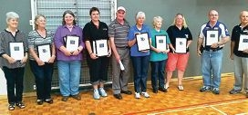Award winners at the recent Thank a Volunteer Day event.