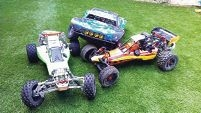 Some of the radio control buggies that could be seen on Sunday.