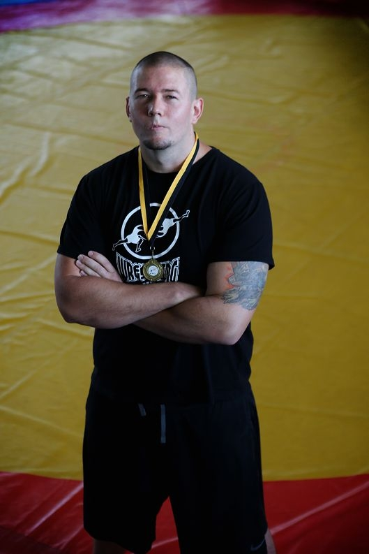 Wrestler Troy Humberston is aiming to compete at the Commonwealth Games. Picture: Andrew Ritchie d412490