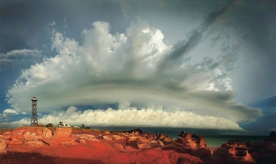 Chris Barry's award-winning photograph taken during a tropical storm in Broome.