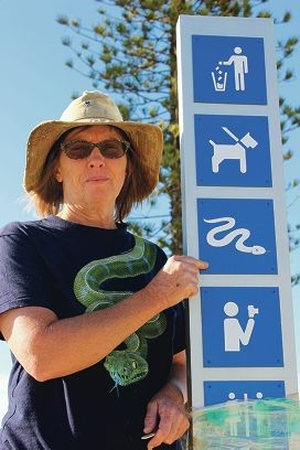 Allison Dixon claims snake warning signs in Seascapes are inadequate.