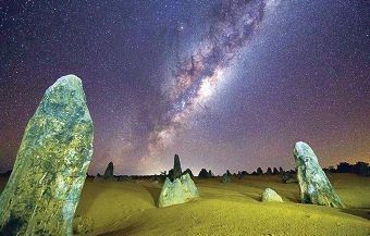 Grahame Kelaher's remarkable image of the Milky Way was taken at the Pinnacles rock formation.