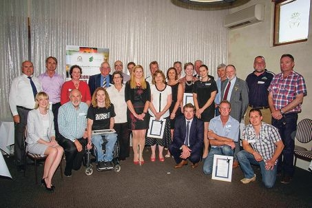 Warrior Ambassador award winners with Nationals MPs Mia Davies (left) and Brendon Grylls (third from right at front).