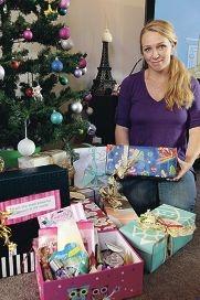 Renee Whitcher is running a Christmas Cheer Box program.