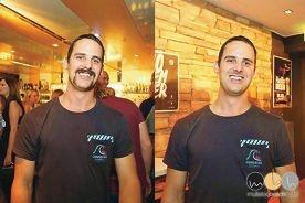 Rob Hughes was named Mr Movember.