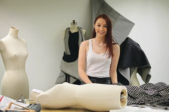Vynka Topham has won a fashion design scholarship to travel to Japan. Picture: Andrew Ritchie www.communitypix.com.au d412388