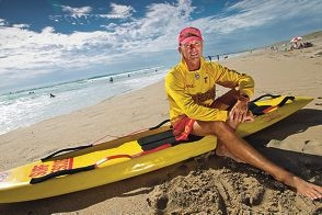 Lee McGovern is a surf lifesaver at Secret Harbour. Picture: Matthew Poon d393607