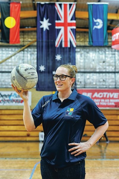 Kacy Mazzini has worked hard to get herself back to the form that has won her selection in the Australian team for the World Cup in South Africa next year. Picture: Marcus Whisson www.communitypix.com.au d412286