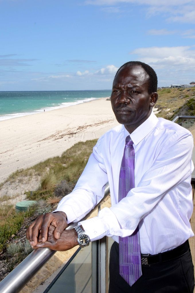 Teacher Materno Biwot's 14-year-old son drowned after he was caught in a rip at a Mindarie beach in March.