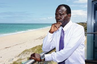 Materno Biwot's son drowned at a Mindarie beach last year.
