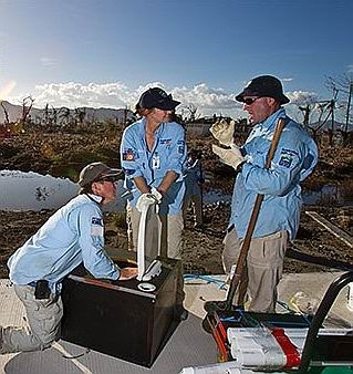 The AUSMAT team at work in the Philippines.