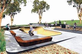 Artist's impression of the skate park.
