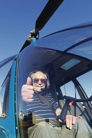 Irvine 'Hutch' Hutchison in the pilot's seat. Picture: Martin Kennealey www.communitypix.com.au d379692
