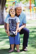 Denis Marshall with his grandson Jonathan Donnelly. d412040
