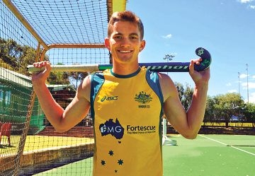 Frank Main hopes to play a big role for Australia in the Junior World Cup.