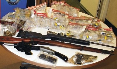 Some of the items seized by the Organised Crime Squad during raids in the Peel district.