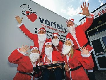 Variety team members gearing up for the annual Santa Fun Run for charity.