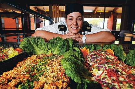 Marine Logistics Chef Able Seaman Ashleigh Beaman. Picture: Elle Borgward www.communitypix.com.au d410883