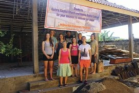 The group from Quinns Baptist College and Church at the Widhya Asih Orphanage in Bali.