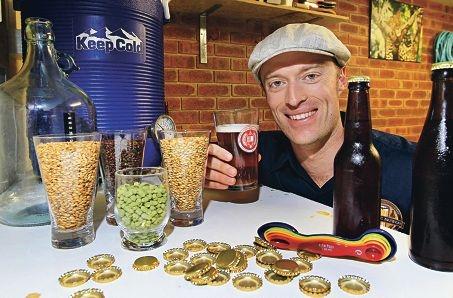 Award-winning home brewer Jeremy Sambrooks enjoys a drop. Picture: Elle Borgward www.communitypix.com.au d411492