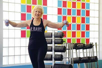 Bayswater Waves fitness instructor Shirley Barnes has been teaching aerobics for more than 25 years.