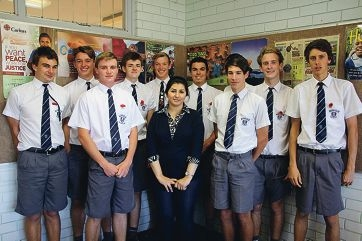 Mahshid Mohammadzadeh enjoyed speaking to the students and sharing her story.