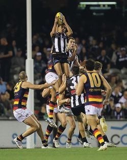 Andrew Krakouer takes the AFL Mark of the Year in 2011.