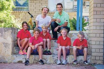 Front: Talicia Jackson-Clarke, Blake Fletcher, Samuel Fletcher-Davey, Kellie Cliff and Tom Spreckley. Back: Grant Patterson and Matt Welsh. Picture: Emma Reeves www.communitypix.com.au d411206