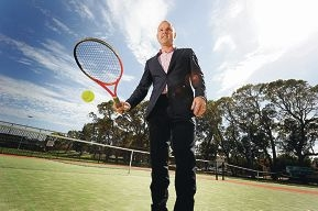 New Hopman Cup tournament director Paul Kilderry at Scarborough Tennis Club, where he played his early tennis. Picture: Marcus Whisson d410888