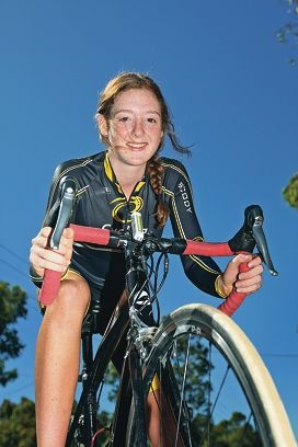 Swan Christian College student Jade Haines on her bike. She is excelling in the sport.ALTHOUGH she has been cycling for just 12 months, Swan Christian College student Jade Haines is excelling in the sport.