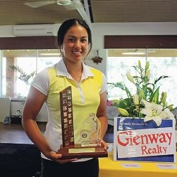 Overall 36- hole winner Jessica Whitting.