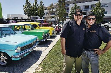 Chris Faulds and Marco Panizza are the brains behind the car and hotrod show. Picture: Elle Borgward www.communitypix.com.au d411089