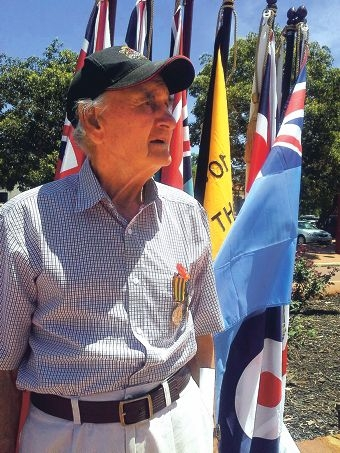 Korean war veteran Brian Stacey at the Mundaring Remembrance Day service.
