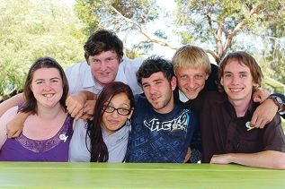 Tyler Johnston, Dominic Burn, Jesse Green, Samuel Castano, Cher Jackson, Jaleesa Walker and (not pictured) Michael Goss graduated from Year 12 last week.